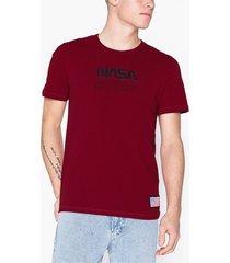 jack & jones jcoberkan tee ss crew neck t-shirts & linnen röd