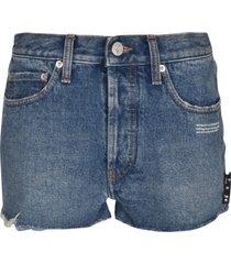 off-white classic 5 pockets denim shorts