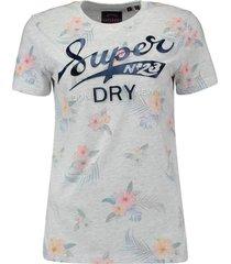 t-shirt super 23 tropical grijs