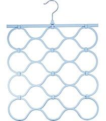 cabide multicional dobrável para acessórios azul oikos