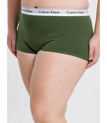 short modern cotton plus size - verde militar - 4xl