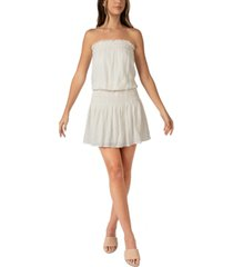 b darlin juniors' strapless smocked dress