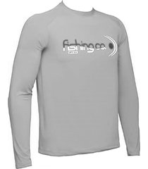 camiseta manga longa fishing co. cinza ufp 50+ ref. 1020
