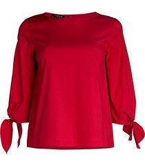 elaina tie-sleeve blouse