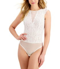 inc sheer lace high-neck bodysuit, created for macy's