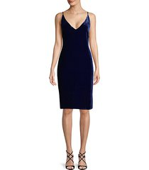 v-neck velvet slip dress