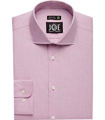 joe joseph abboud repreve® burgundy herringbone slim fit dress shirt