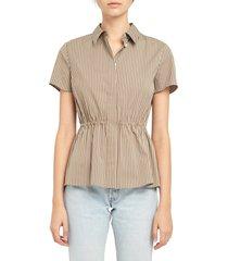 women's theory stripe woven shirt