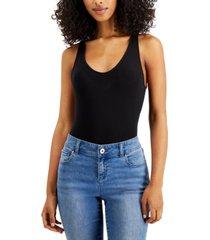 alfani super soft modal v-neck bodysuit, created for macy's