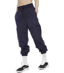 pantalón nike w nsw pant wvn ssnl azul - calce regular