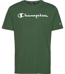 crewneck t-shirt t-shirts short-sleeved grön champion