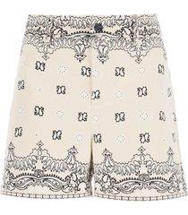 tory burch bandana paisley shorts