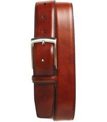 men's magnanni tabon leather belt, size 42 - cognac