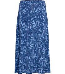 kayla knälång kjol blå jumperfabriken