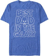 fifth sun men's star wars vader father's day galaxy's best short sleeve t-shirt