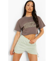 kort ibiza t-shirt, charcoal