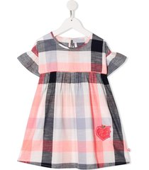 billieblush sequinned check-plaid dress - pink
