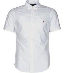 overhemd korte mouw polo ralph lauren chemise cintree slim fit en oxford col boutonne logo pony player