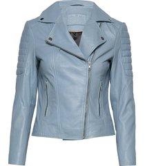 biker jacket leren jack leren jas blauw depeche