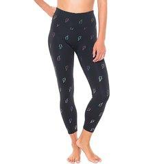 activology women's icon-print active leggings - black - size l
