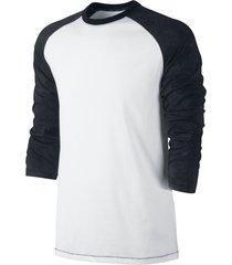 camiseta alkary manga 3/4 branca