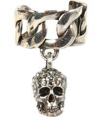 alexander mcqueen earrings with chain