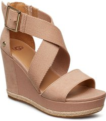 w.calla sandalette med klack espadrilles beige ugg