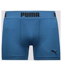 cueca puma boxer seamless azul