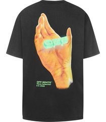 off-white hand logo t-shirt
