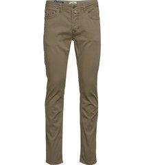 james textured 5-pkt slim jeans groen morris