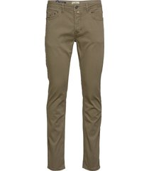 james textured 5-pkt slim jeans groen morris