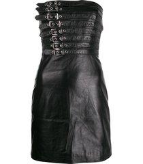 manokhi buckle detail dress - black