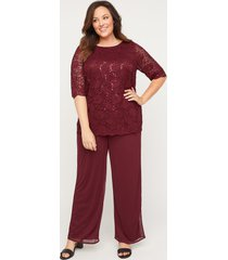 sparkle & lace pant set