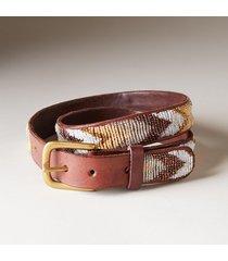 women's dovetail beaded belt