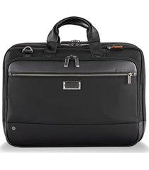 men's briggs & riley @work large expandable ballistic nylon laptop briefcase with rfid pocket - black