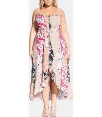 city chic trendy plus size poppy patch madi dress
