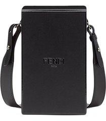 fendi vertical box shoulder bag - black