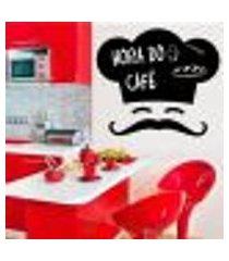adesivo de lousa para parede chefe de cozinha - p 50x55cm