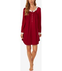 eileen west scalloped-lace-trim nightgown