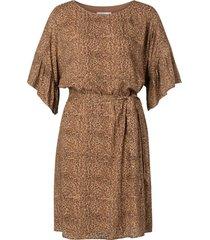 jurk balted bruin