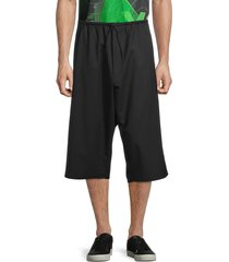 y-3 men's wool-blend shorts - black - size m