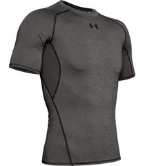 camiseta under armour heatgear compression para hombre - gris oscuro