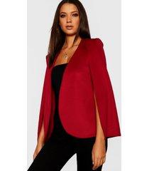 tall blazer met mantel, berry