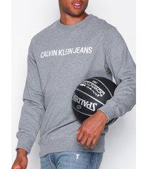 calvin klein jeans basic institutional logo sweat tröjor grey