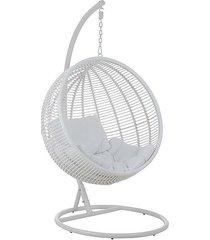 fotel wiszący bocianie gniazdo swing biały