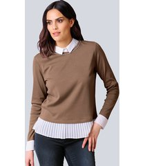 shirt alba moda bruin::offwhite