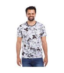 camiseta javali floral mescla