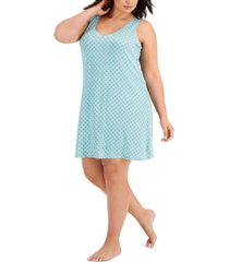 alfani plus size sleeveless chemise nightgown, created for macy's