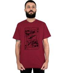 camiseta bleed american death card vinho - vinho - masculino - dafiti