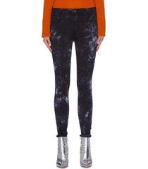 'alana' tie-dye cropped skinny jeans